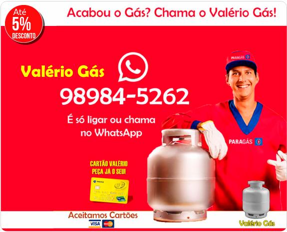 Valério Gás - 5% de Desc.